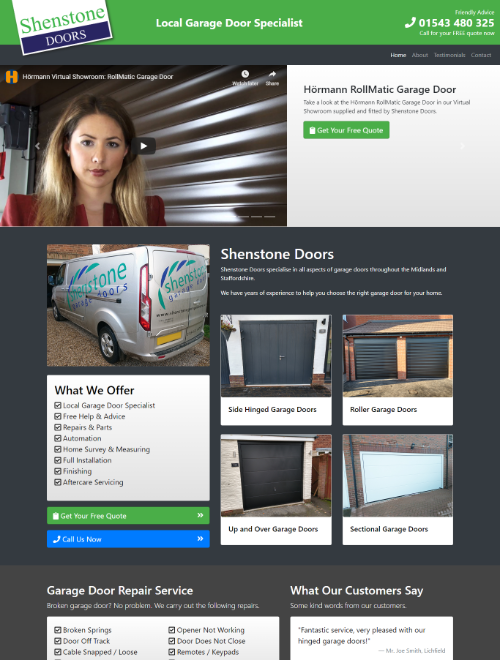 Shenstone Doors Website Screenshot
